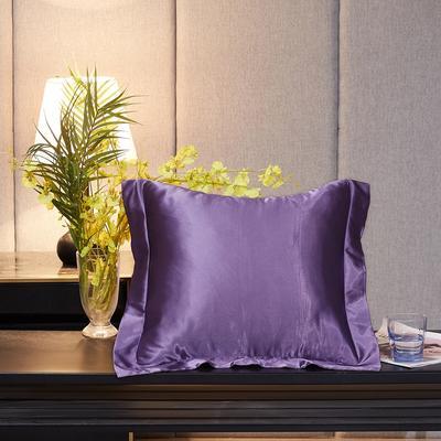 2020新款-升级好面料水洗冰丝真丝单方垫套抱枕套 45X45cm 典雅紫