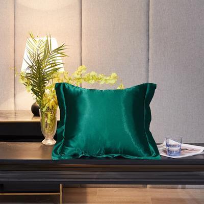 2020新款-升级好面料水洗冰丝真丝单方垫套抱枕套 45X45cm 翡翠绿