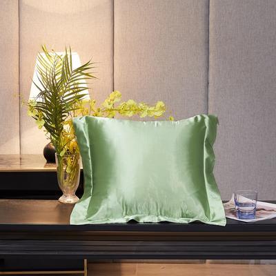 2020新款-升级好面料水洗冰丝真丝单方垫套抱枕套 45X45cm 琥珀绿