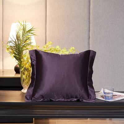 2020新款-升级好面料水洗冰丝真丝单方垫套抱枕套 45X45cm 水晶紫