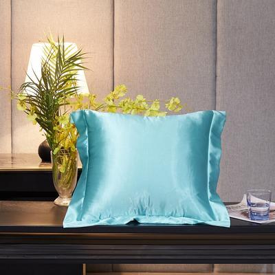 2020新款-升级好面料水洗冰丝真丝单方垫套抱枕套 45X45cm 天之蓝