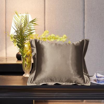 2020新款-升级好面料水洗冰丝真丝单方垫套抱枕套 45X45cm 香槟金