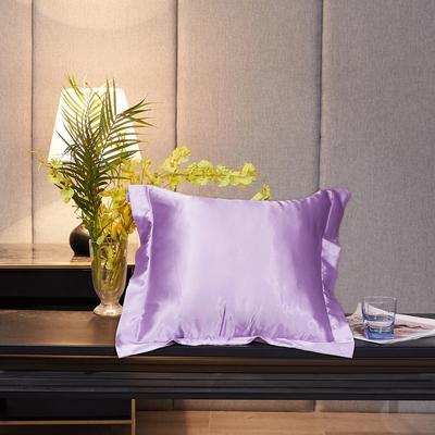 2020新款-升级好面料水洗冰丝真丝单方垫套抱枕套 45X45cm 香芋紫
