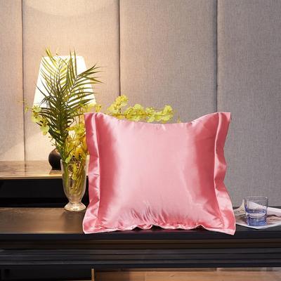 2020新款-升级好面料水洗冰丝真丝单方垫套抱枕套 45X45cm 胭脂玉
