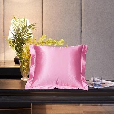 2020新款-升级好面料水洗冰丝真丝单方垫套抱枕套 45X45cm 樱花粉