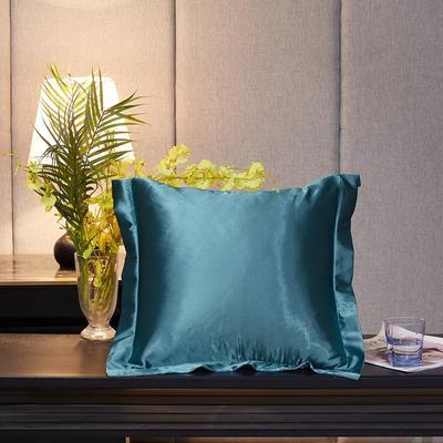 2020新款-升级好面料水洗冰丝真丝单方垫套抱枕套 45X45cm 月光蓝