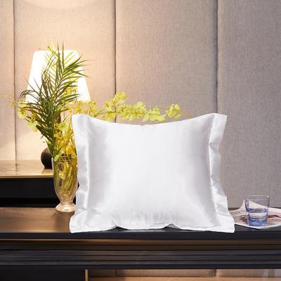 2020新款-升级好面料水洗冰丝真丝单方垫套抱枕套 45X45cm 珍珠白