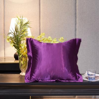 2020新款-升级好面料水洗冰丝真丝单方垫套抱枕套 45X45cm 紫罗兰