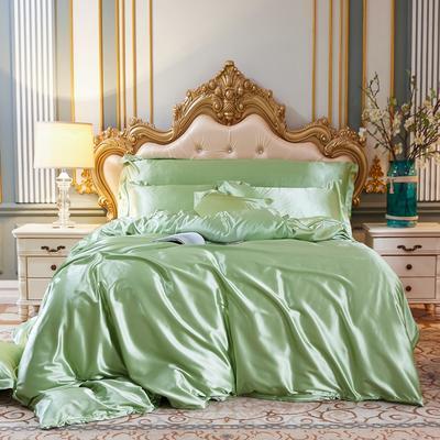 2020新款-好面料冰丝真丝四件套 床单款三件套1.2m(4英尺)床 琥珀绿
