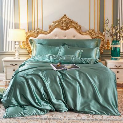 2020新款-好面料冰丝真丝四件套 床单款三件套1.2m(4英尺)床 抹茶绿