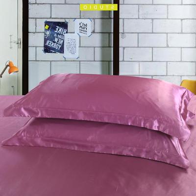 2020新款-升级好面料水洗冰丝真丝单枕套 长枕套 48cmX120cm/只 豆沙