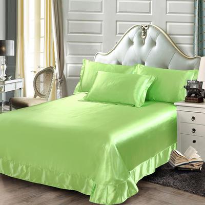 2020新款升级好面料水洗冰丝真丝单床单 230cm*250cm 果绿