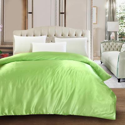 2020新款升级好面料水洗冰丝真丝单被套 200X230cm 果绿