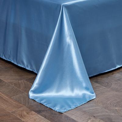 2020新款-冰丝真丝单品床单(专供跨境电商亚马逊等 ,出口外贸定做 ) 230cmx250cm 浅蓝色