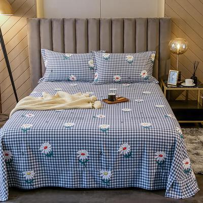 2020新款全棉活性生态磨毛纯棉单床单 180x240cm 花蜜-兰