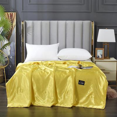 2021新款水洗真丝夏被四件套 单夏被150x200cm 鎏金黄