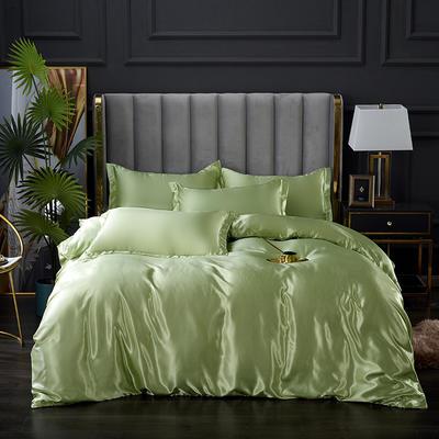 2021爆款热卖冰丝真丝四件套-常年有货 1.2m床单款四件套 琥珀绿