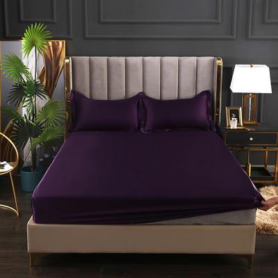 2021爆款热卖冰丝真丝四件套-常年有货--单床笠 150*200cm 水晶紫
