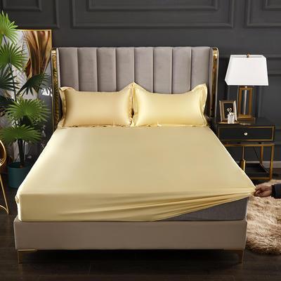 2021爆款热卖冰丝真丝四件套-常年有货--单床笠 150*200cm 驼色