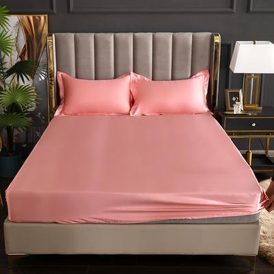 2021爆款热卖冰丝真丝四件套-常年有货--单床笠 150*200cm 玉色