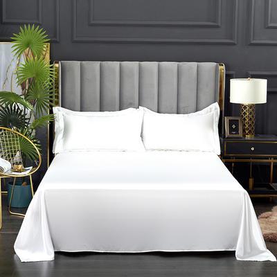 2021爆款热卖冰丝真丝四件套-常年有货--单床单 230*250cm 白色