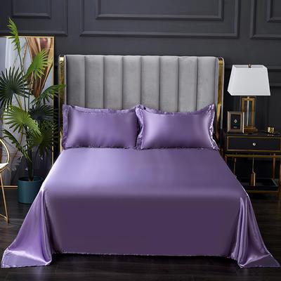 2021热款冰丝真丝四件套--单床单 230*250cm 典雅紫