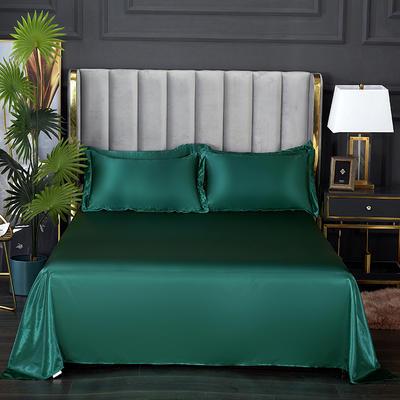 2021热款冰丝真丝四件套--单床单 230*250cm 翡翠绿