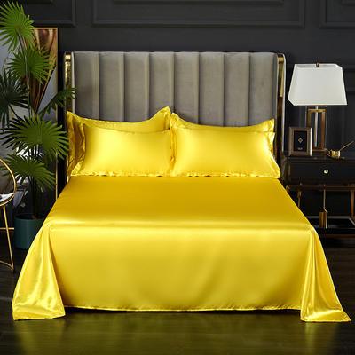 2021热款冰丝真丝四件套--单床单 230*250cm 贵族黄