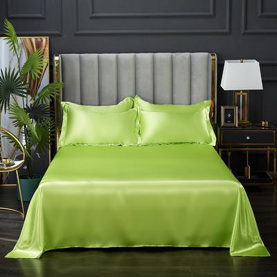 2021热款冰丝真丝四件套--单床单 230*250cm 果绿