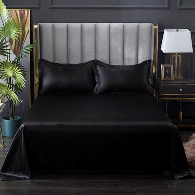 2021热款冰丝真丝四件套--单床单 230*250cm 黑色