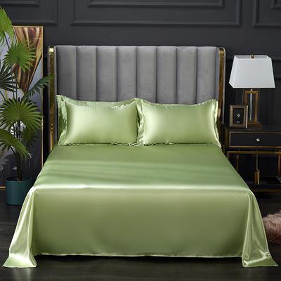 2021热款冰丝真丝四件套--单床单 230*250cm 琥珀绿