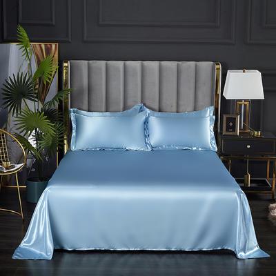 2021热款冰丝真丝四件套--单床单 230*250cm 浅蓝色
