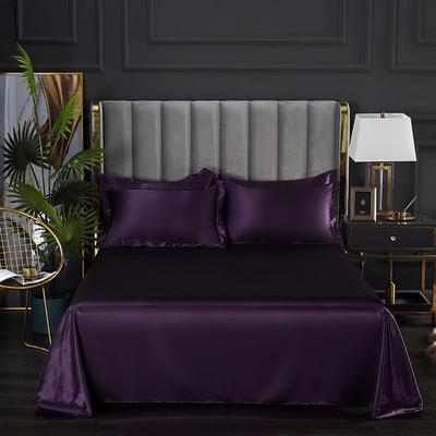 2021热款冰丝真丝四件套--单床单 230*250cm 水晶紫