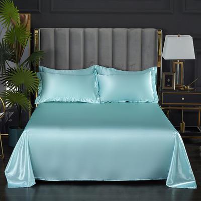 2021热款冰丝真丝四件套--单床单 230*250cm 水蓝色