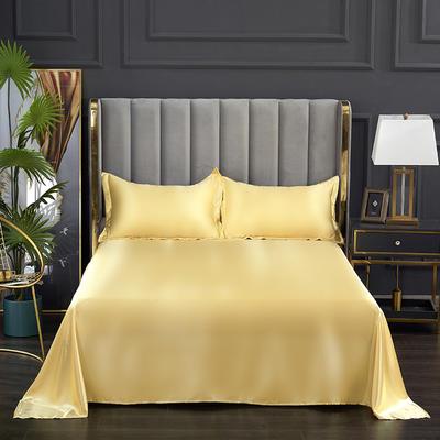 2021热款冰丝真丝四件套--单床单 230*250cm 驼色