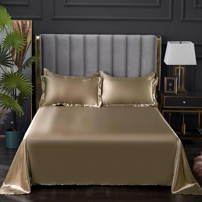 2021热款冰丝真丝四件套--单床单 230*250cm 香槟金