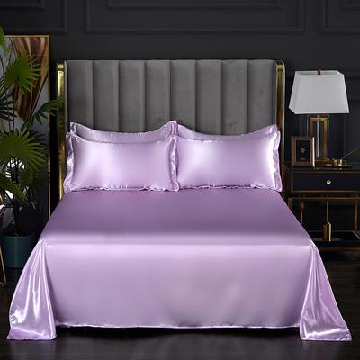 2021热款冰丝真丝四件套--单床单 230*250cm 香芋紫