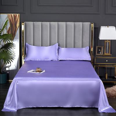 2021热款冰丝真丝四件套--单床单 230*250cm 雪青色