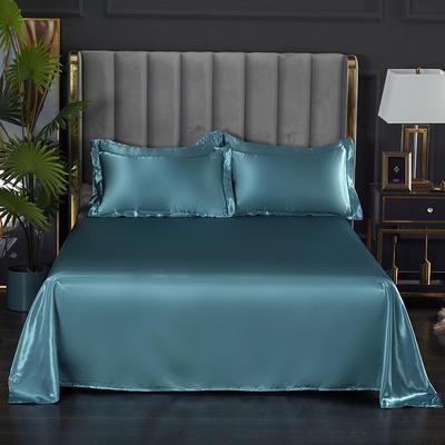 2021热款冰丝真丝四件套--单床单 230*250cm 月光蓝