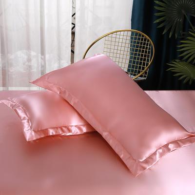 2021热款冰丝真丝四件套--单枕套 48*74cm/对 玉色