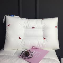 枕头枕芯系列全棉水洗绣花枕(48*74) 火烈鸟
