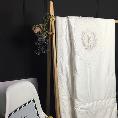 方回家居   2018新品伊莎贝尔-天丝棉-夏被实拍图 200X230cm 白色