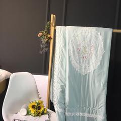 方回家居   2018新品伊莎贝尔-天丝棉-夏被实拍图 200X230cm 绿色