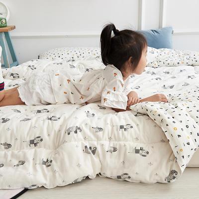 2018新款全棉双层纱棉花儿童被 1.2m(4英尺)床 LION