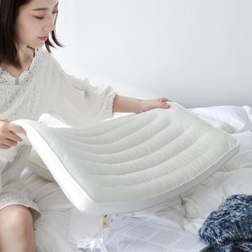 2019新—超柔绒超低枕咖色羽丝绒成人枕