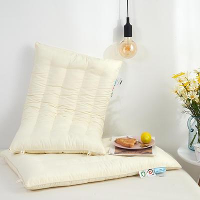 2019新款-玻尿酸枕 白色48*74CM(低枕)