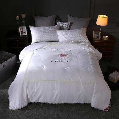 60长绒棉蚕丝被 220x240cm 沁雅悠香白