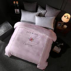 60长绒棉蚕丝被 200X230cm 沁雅悠香粉