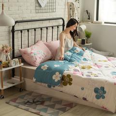 风尚全棉冬被模特图 150x200cm 花婆