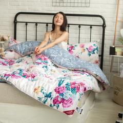 风尚全棉冬被模特图 150x200cm 花样倾城